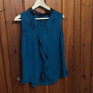 Teal tank blouse